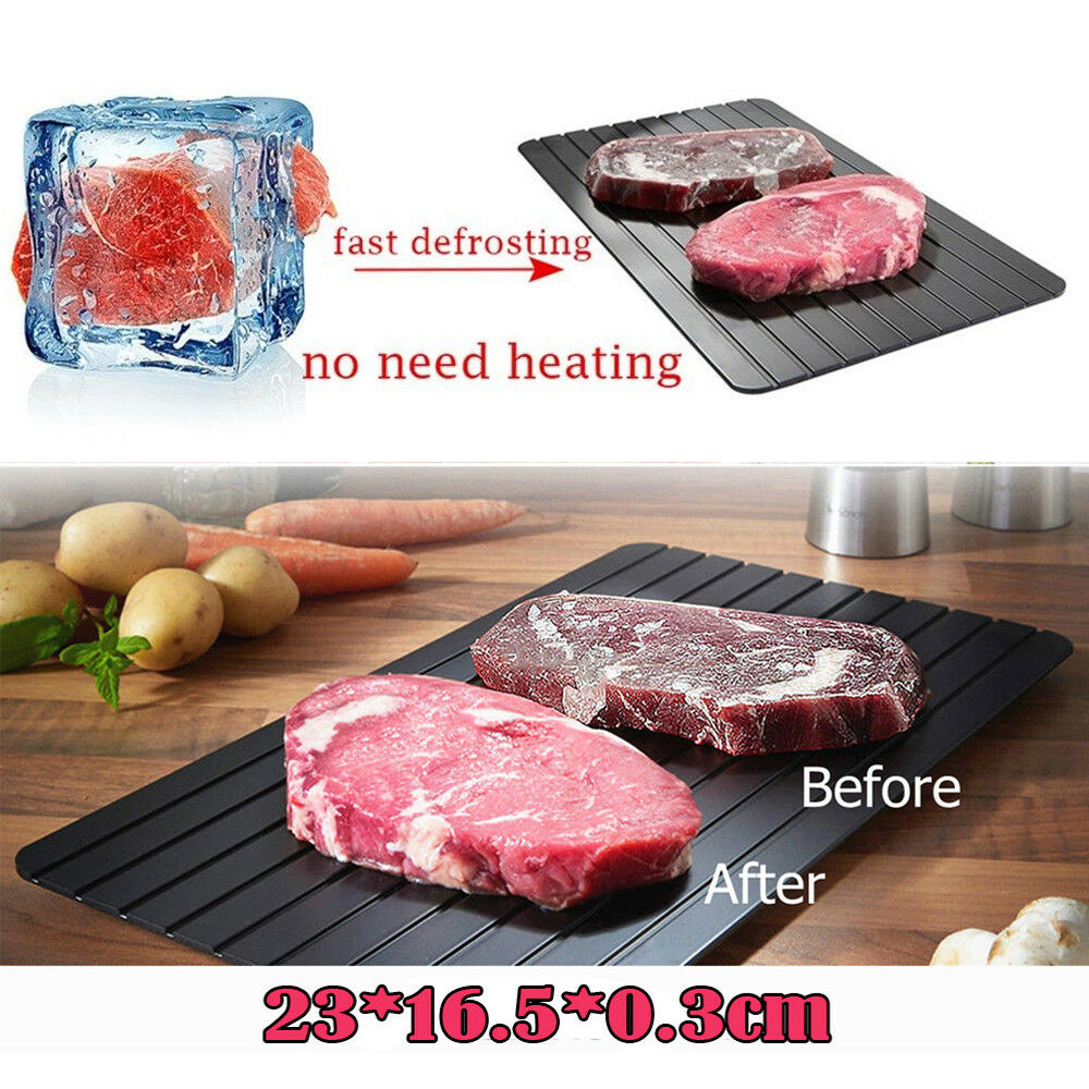 Metal Magic Fast Heating Thawing Plate Defrosting Tray Defrost Meat for Cooking