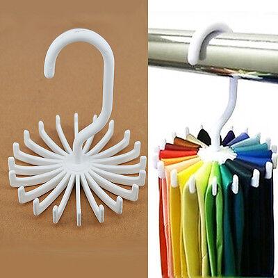 Adjustable 20 Hook Rotating Belt Rack Scarf Organizer Men Tie Hanger Holds J