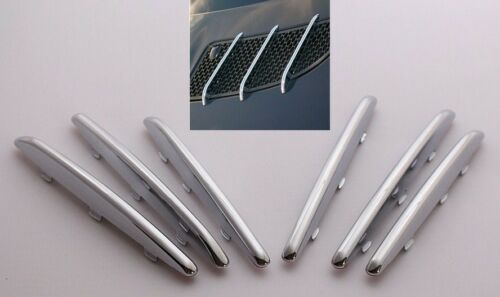 Chrome Hood Vent molding Trim Fins For Mercedes-Benz R171 SLK Class 2005-2011