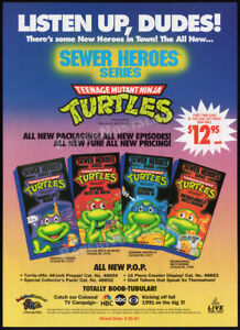 Teenage Mutant Ninja Turtles_SEWER HEROES__Original 1990 Trade AD / ADVERT__TMNT