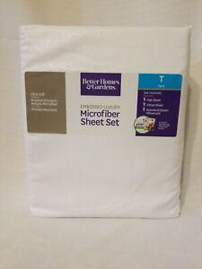 Soft Sliver Twin Better Homes /& Gardens Luxury Microfiber Embossed Sheet Set