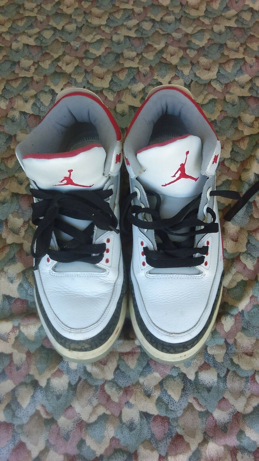 Nike Air Jordan 3 Retro White-Fire Red-Grey 2006 Release 136064-161 Comfortable New shoes for men and women, limited time discount