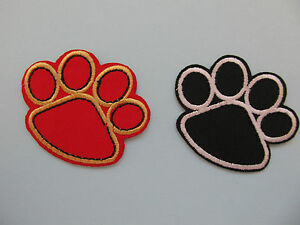 Dog-Paw-Print-Iron-on-Applique-Patch-DIFFERENT-COLOURS