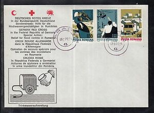 A 51 ) Germany beautiful Red Cross Document Flood aid to Romania