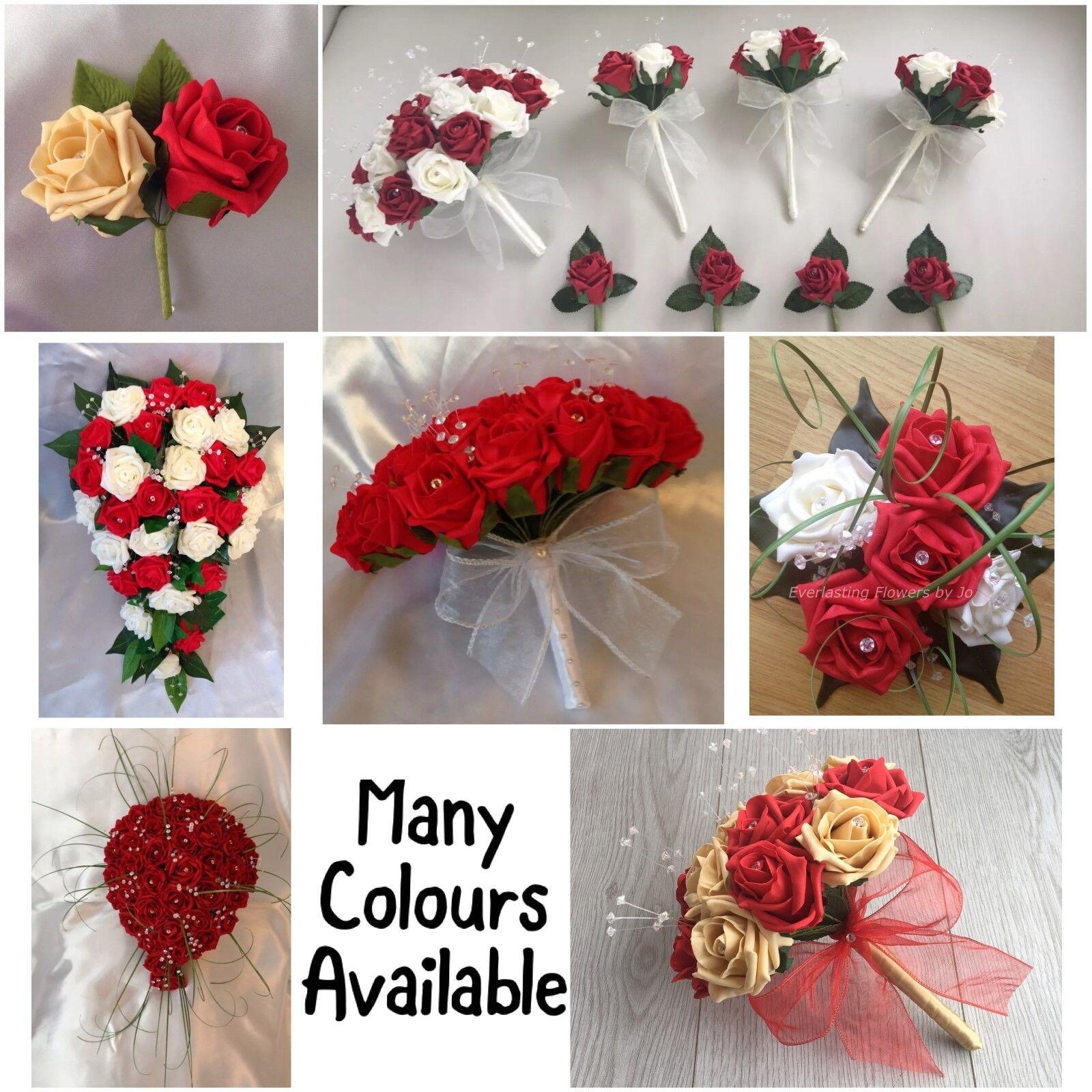 rouge mariage fleurs artificielles bouquets mariée mariée bouquets