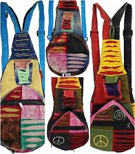 10 pcs lot of Hippie Bohemian Hobo Back Bags - assorted colors and designs