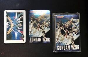 Gundam-Wing-anime-manga-deck-of-playing-cards-Poker-shiny-Rare-Vintage-OOP