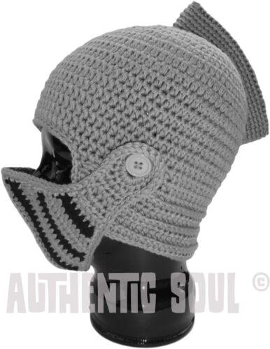** The Genuine Original Knit Knight Helmet Visor Beard Hat by Authentic Soul **