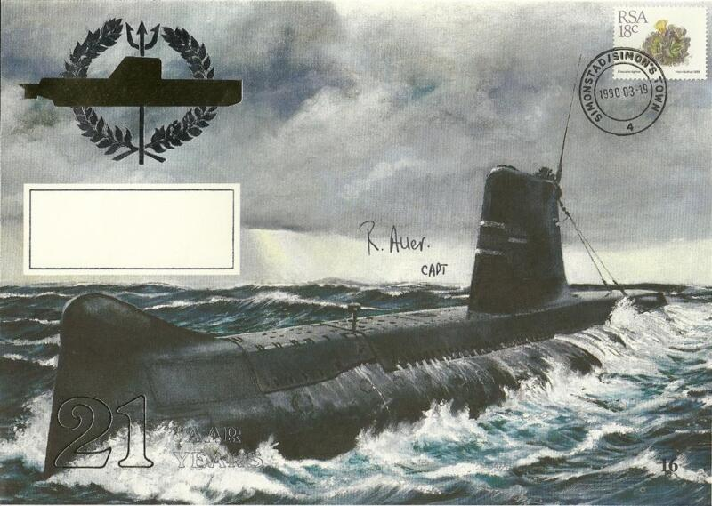 SA Navy First Day Covers (FDC) of Daphne Submarines - 21 year celebrations.