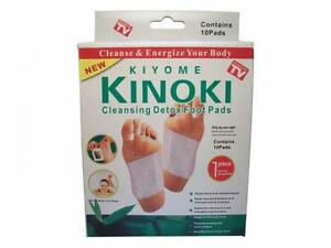 100 Kinoki Detox Foot Pad Patches Remove Harmful Body Toxins Health Boxed UK