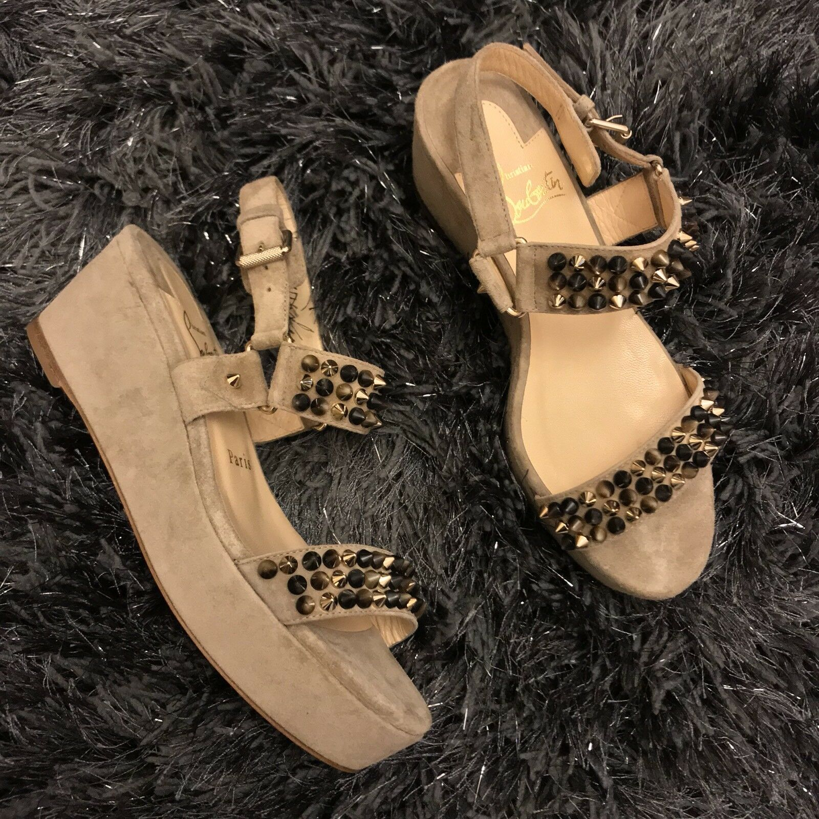 Men/Women Christian louboutin wedges heels heels wedges 3 use Known for its good quality Amoy 103949