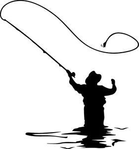 Fly-Fishing-Decal-Window-Bumper-Sticker-Car-Decor-Fish-Outdoors-Fisherman-Pole