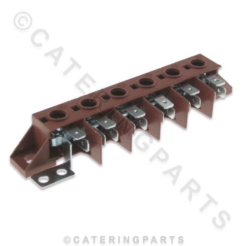 32D0251 ANGELO PO 6 WAY HEAT RESISTANT ELECTRICAL TERMINAL WIRE CONNECTOR BLOCK
