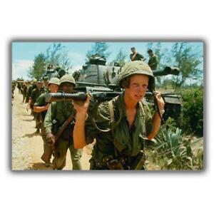 Vietnam-War-US-Army-Patrol-PHOTO-101st-Airborne-Soldier-Photo-034-4-x-6-034-inch-K
