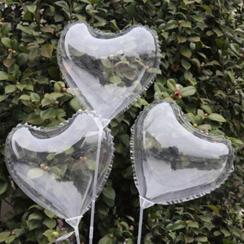 "5//10//15 Luminous Transparent Balloon Round Love Heart Shape Decor for Party 13/"""
