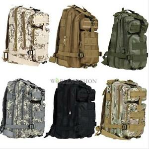 Military Shoulder Tactical Backpack Rucksacks Sport Travel Hiking Trekking Bag