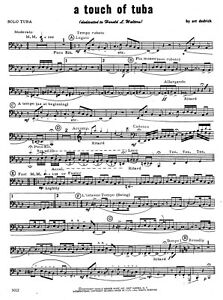 Details About A Touch Of Tuba Concert Band Sheet Music