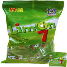 Limon 7 salt and limon powder mexican candy 100--pcs bag with Net Wt 6-oz