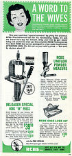 1965 Print Ad of RCBS Inc JR Bullet Reloader Press a word to the wives