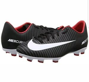 1ef94d9061b1 Nike Kids Youth Mercurial Victory VI FG Cleats Black Grey Red 831945 ...