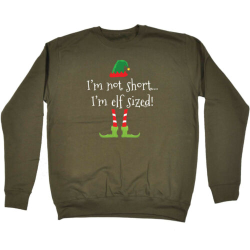 Elf Sized Funny Novelty Sweatshirt Jumper Top