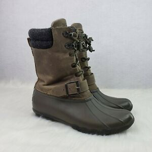 Sperry-Saltwater-Misty-Leather-Rain-Duck-Boots-Waterproof-STS99713-Womens-7-5