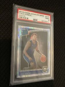 2018-19 Donruss Optic Shock Luka Doncic PSA 9 Mint Rated Rookie #177 RC