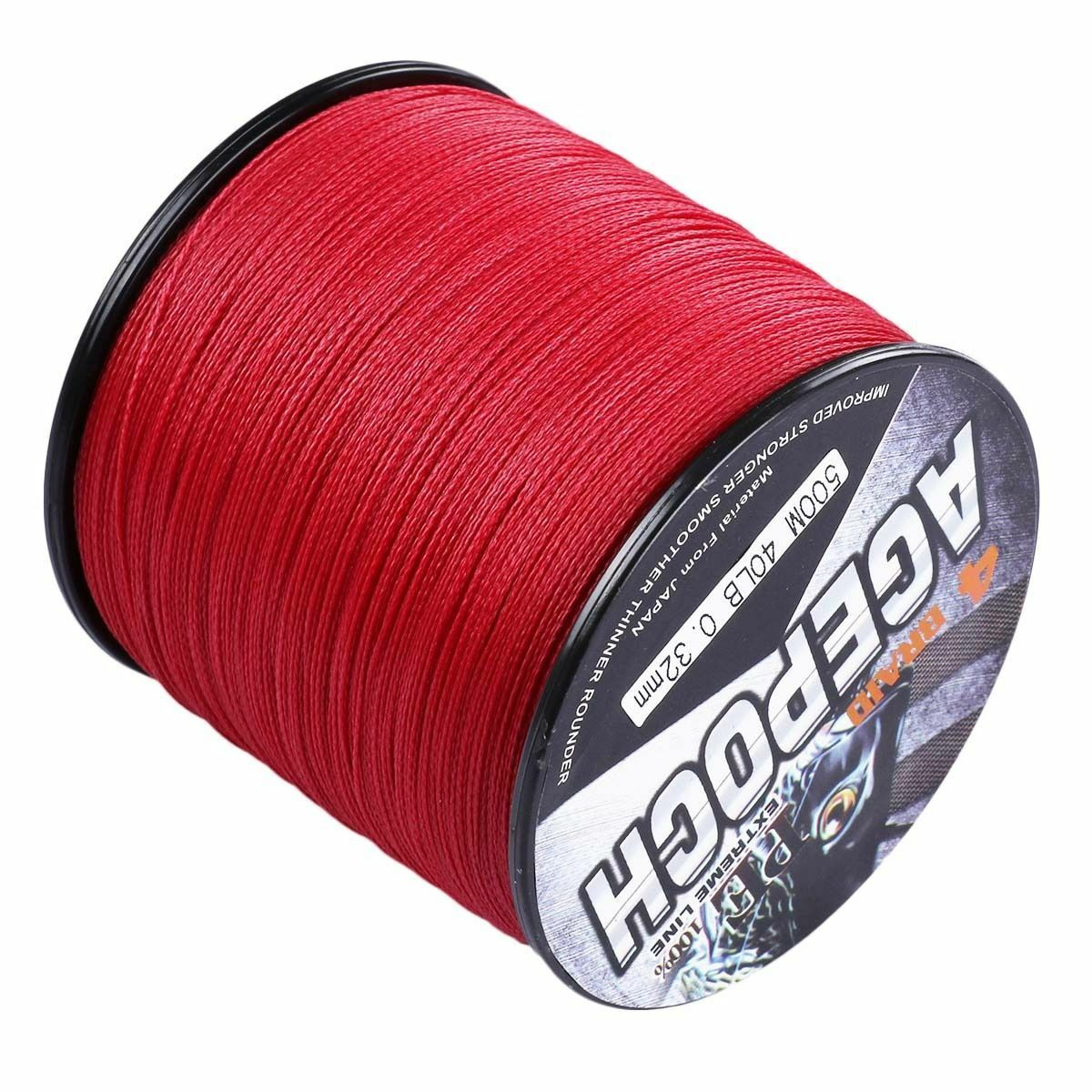 Red 109yds2187yds 100% pe Dyneema Braided Fishing Line 10LB-300LB Agepoch