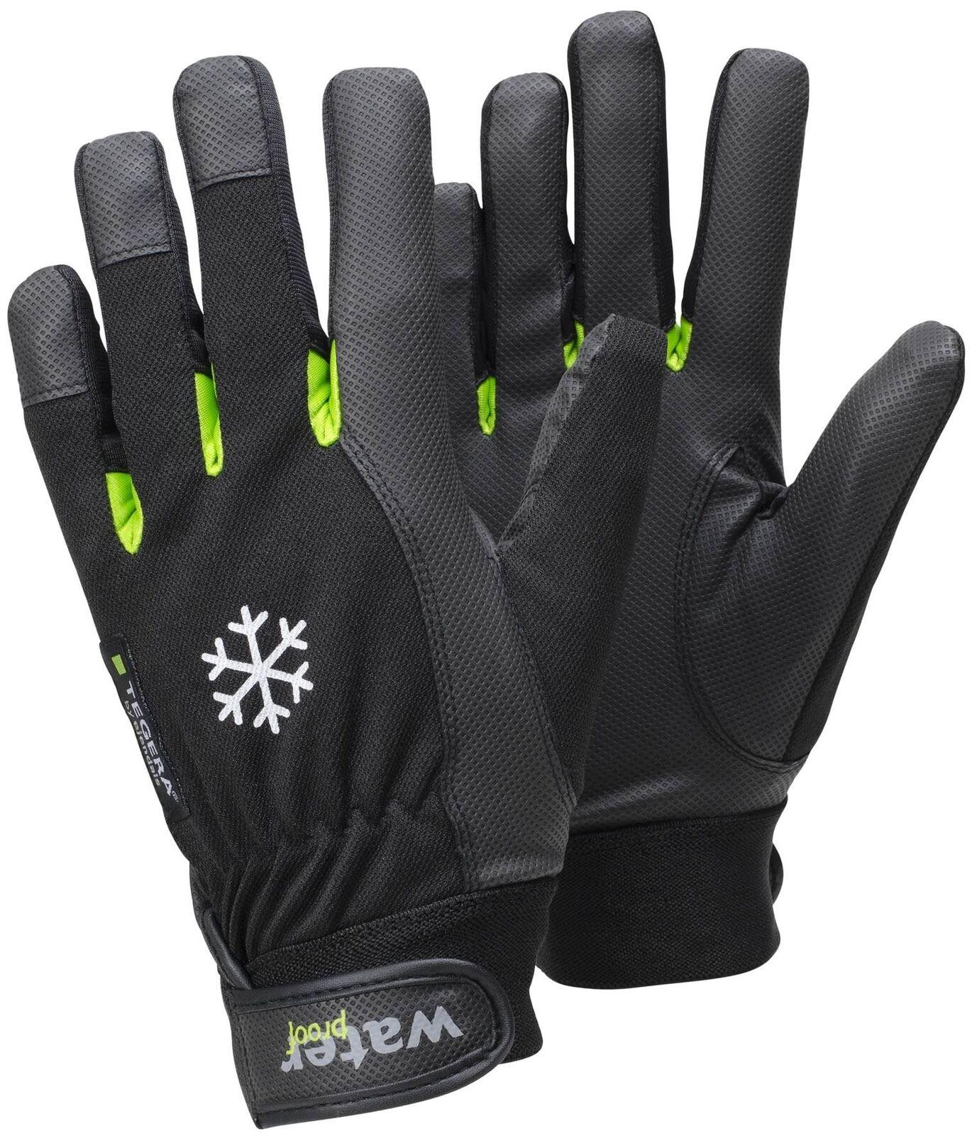 1 Pair Tegera 517 Warm Winter Fleece Lined Thermal Waterproof Glove Size 9 Large