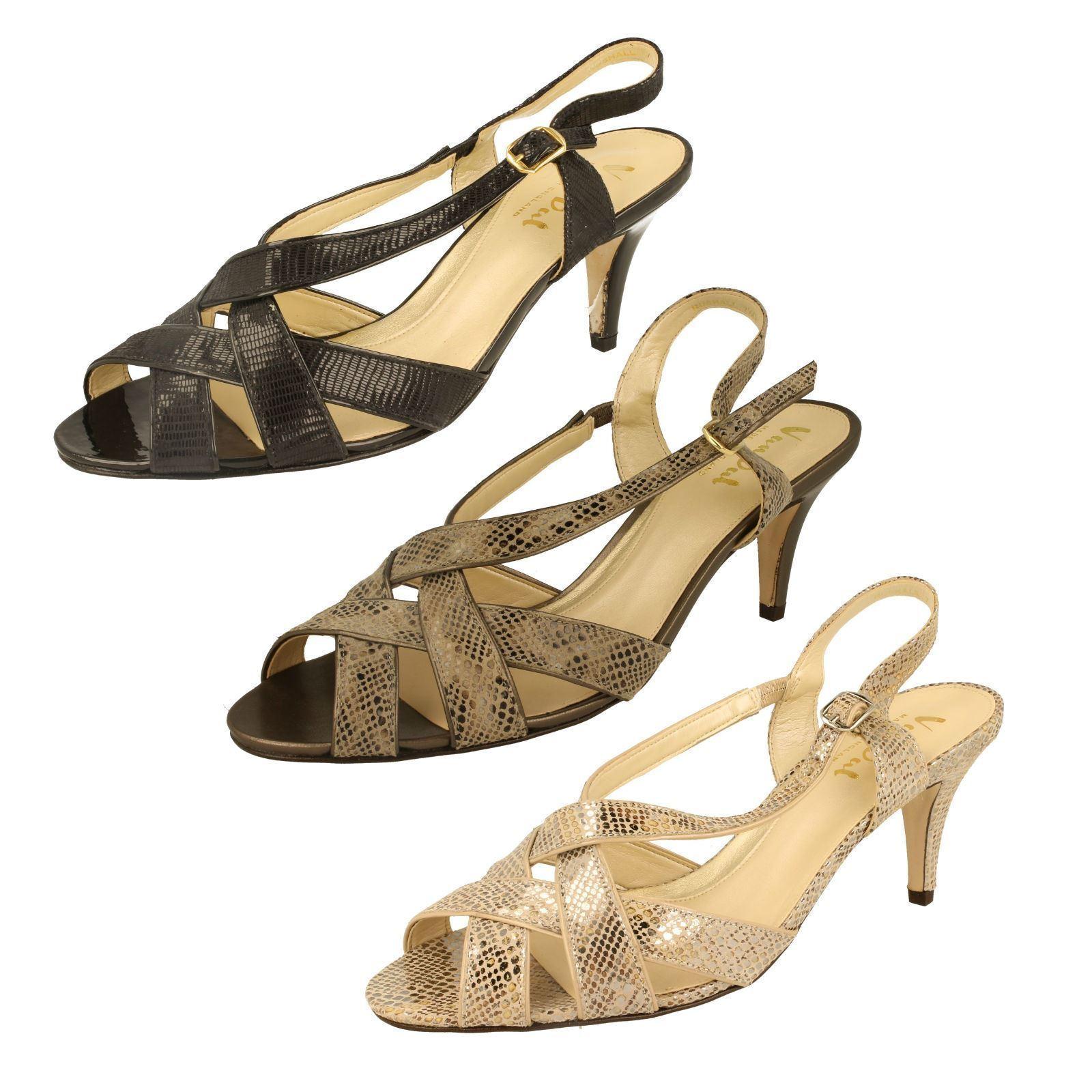 Ladies Van Dal Sling Back Peep Toe Sandals - Rushall