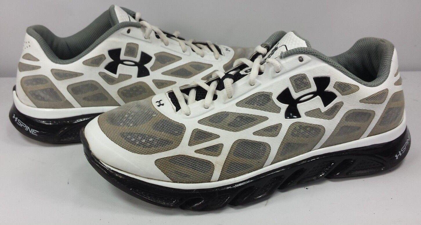 30863346908 Under Armour Men s Spine Spine Spine Running Shoes White Light Weight 4D  Foam Size 11 db8949
