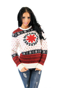Band Ugly Christmas Sweaters.Details About Adult American Rock Band Red Hot Chili Peppers Logo White Ugly Christmas Sweater
