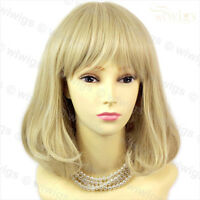 Classic Style SOFT Gold Blonde mix Ladies Wigs skin top Short wig from WIWIGS UK