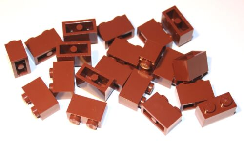 20x LEGO® Stein 1x2 3004 NEU Braun Reddish Brown