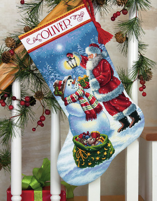 Dimensions Counted Gold Cross Stitch Kit Holiday Glow D70-08952 Stocking