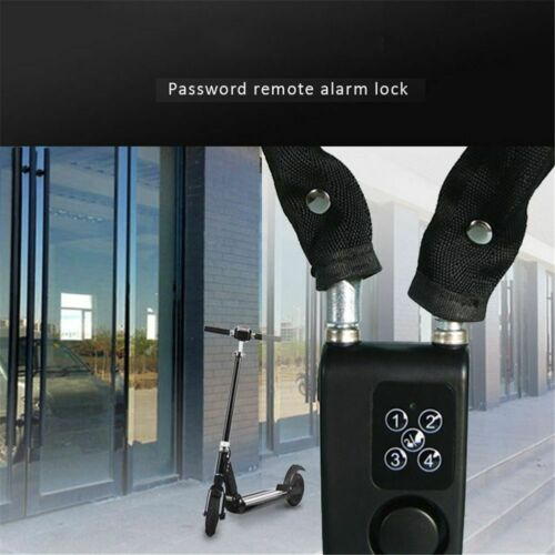 Bicycle Alarm Security Lock Anti Theft Wireless Remote Control Steel Cable Chain