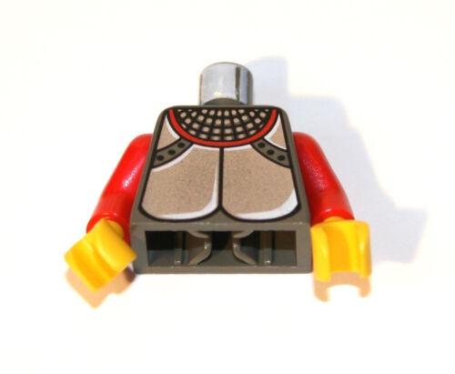 1x LEGO® Torso Körper mit Rüstung silber 973px115 NEU Dunkelgrau//Rot Ritter