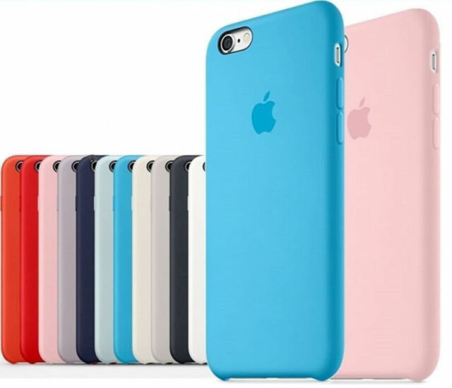 Original Ultra Suave Funda de silicona Funda para Apple iPhone 8 7 6 6s Plus