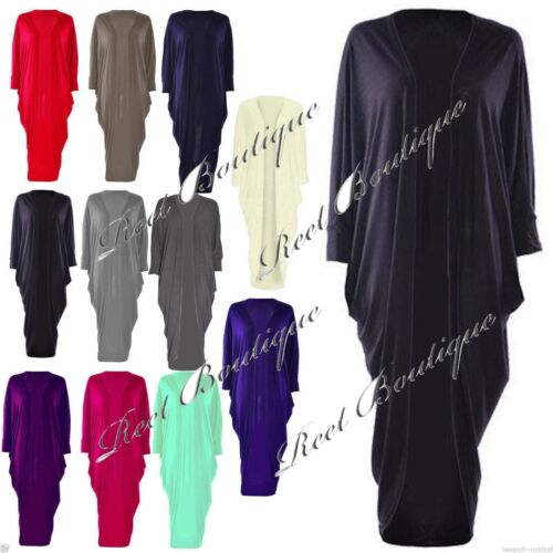 Ladies Women Boyfriend Long Maxi Bat-wing Open Kimono Shawl Dress Top Cardigan