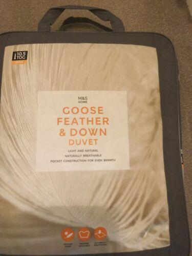 Marks & Spencer Goose Feather & Down 10.5 Tog.M&S Extra Warm BNIB Single Duvet.