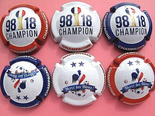 Série de  6 new capsules  de Champagne  98-18 CHAMPION