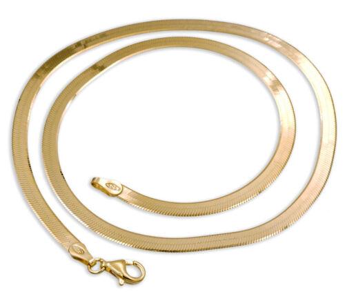 Gold pl 925 ECHT SILBER Schlangenkette flach vergoldet 3,5mm 38-40-42-45-50-55
