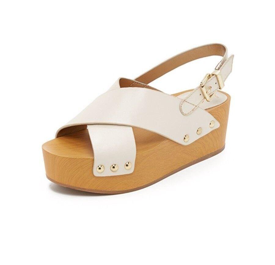 Sam Edelman Bentlee Ivory  Leather Open Toe Platform scarpe Dimensione 10 M  risparmia fino al 70% di sconto