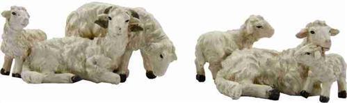 10-12 cm Krippenfiguren Tiere Schafherde Schaf Set 2tlg für Figuren ca