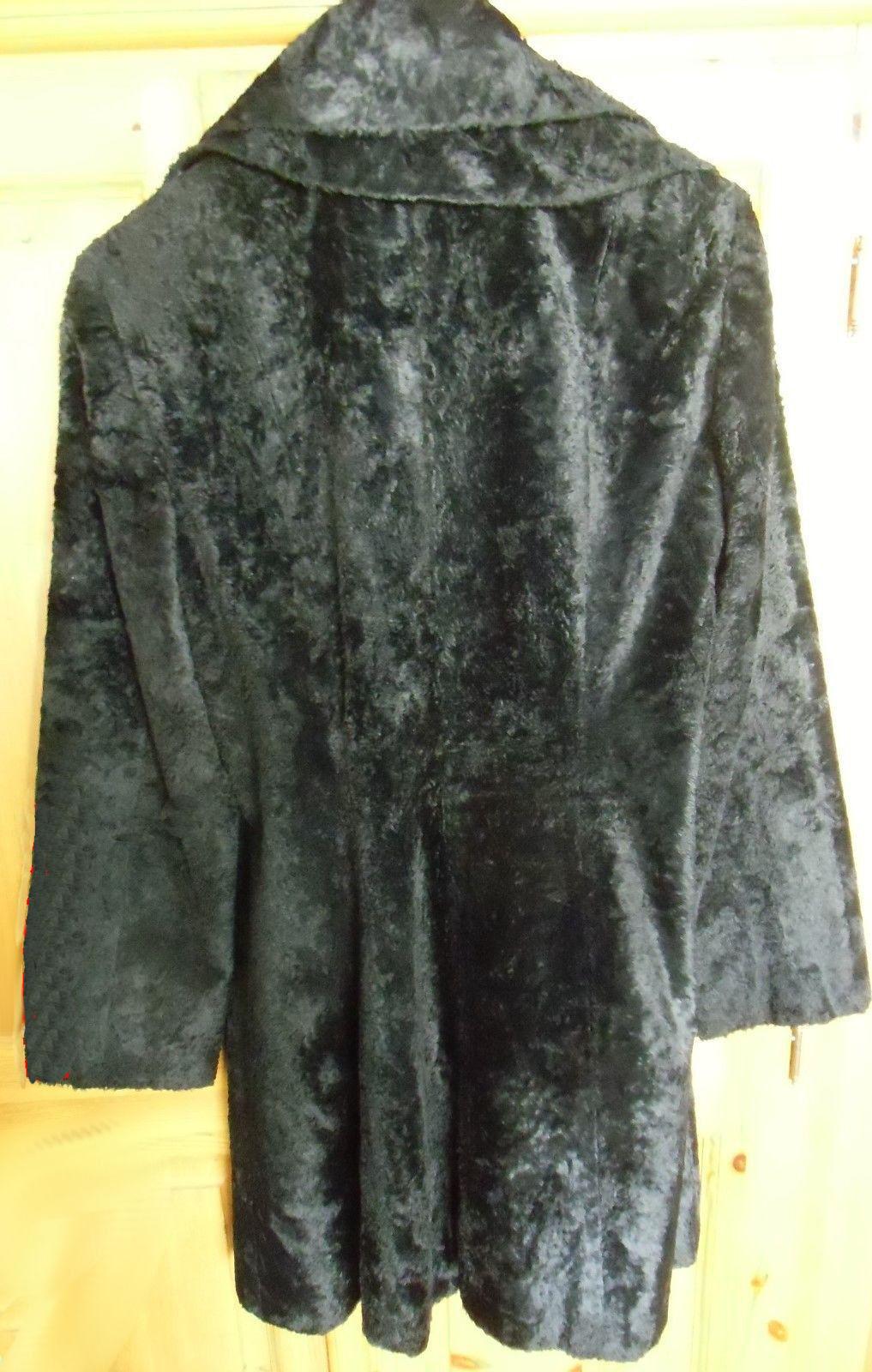 Pelzmantel N3 schwarz schwarz schwarz MARC CAIN  38 Pelz Mantel WIE NEU | Elegant  0e2f1e