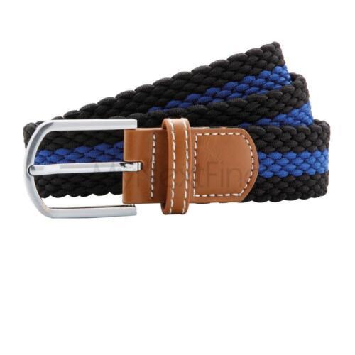 Asquith /& Fox Two Colour Stripe Braid Stretch Belt