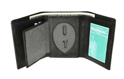 Concealed Carry Badge Holder Permit Wallet Leather ID Card Sheriff Officer