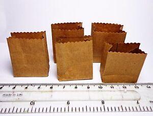 Échelle 1:12 5 Vide Papier Marron Sacs Shopping Maison De Poupées Miniature Accessoire-afficher Le Titre D'origine