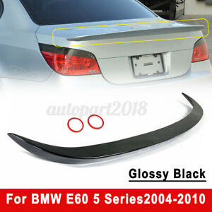 For BMW E60 5 Series AC Style 04-10 Glossy Black MetallicTrunk Spoiler