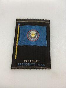 Vintage Paraguay Tobacco Silk The American Tobacco Co. Silk Flag Premium